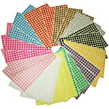 LJY 8mm Round Dot Stickers Color Coding Labels, 12 Different Assorted Colors, 24 Sheets