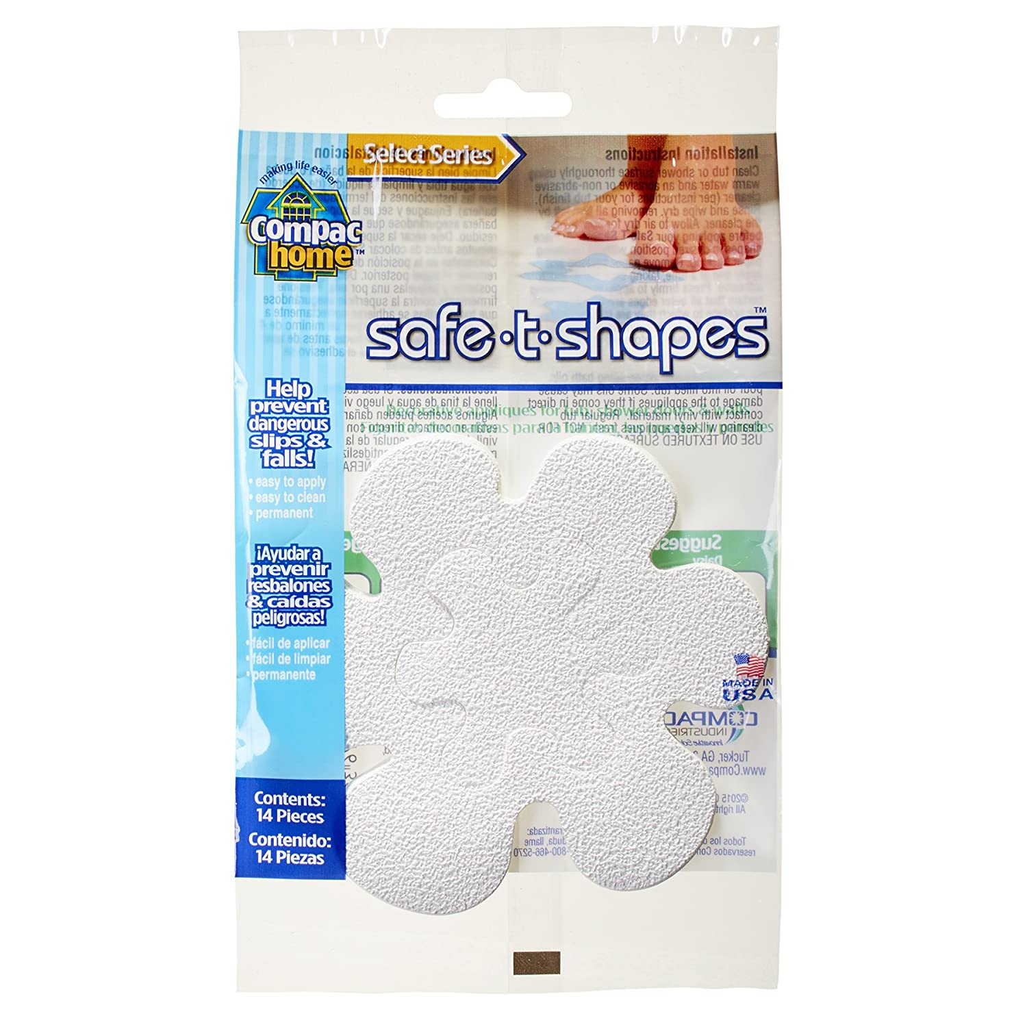 Compac Select Safe T Shapes Bathtub Decals, Daisy