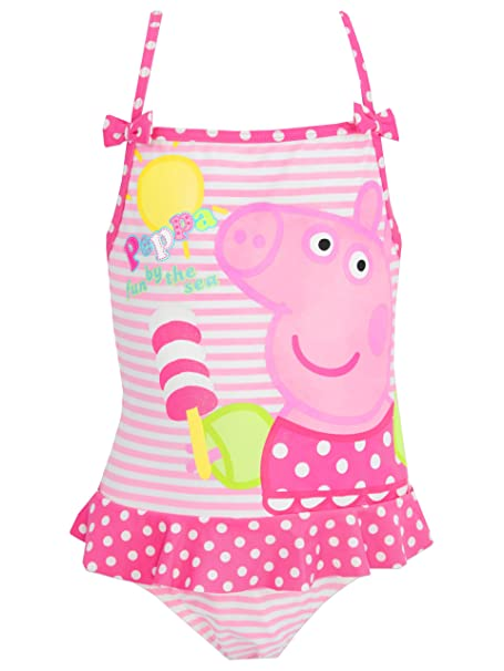 215ce134aa21 Peppa Pig - Peppa Pig - de las niñas traje de baño, Rosado: Amazon ...