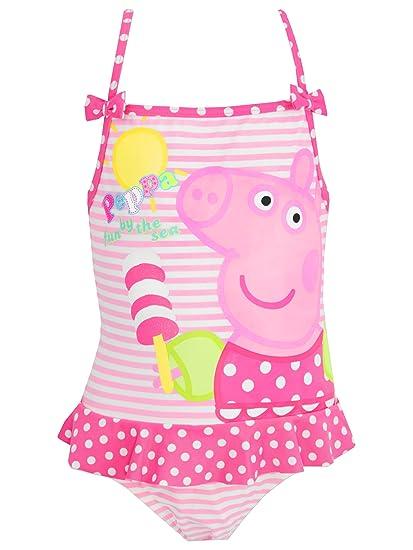 Amazoncom Peppa Pig Girls Swimsuit Pink Clothing