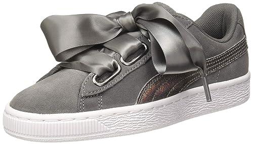 Suede Heart Lunalux Wn S Black Sneakers