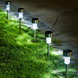 GIGALUMI 16 Pack Solar Path Lights Outdoor,Solar Lights Outdoor Garden Led Light Landscape/Pathway Lights for Patio/Lawn…