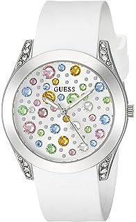 Guess para mujer de acero inoxidable corazón de vidrio reloj ... 22bf47ae05d4