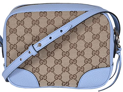 d310bfb6758ab Gucci Women s Canvas Leather GG Guccissima Small Bree Crossbody Purse  (Beige Blue)  Amazon.ca  Shoes   Handbags