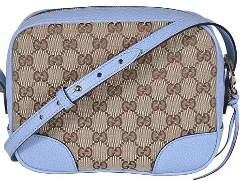 cca4c3358ef1f8 Gucci Women's Canvas Leather GG Guccissima Small Bree Crossbody Purse (Beige /Blue): Amazon.ca: Shoes & Handbags