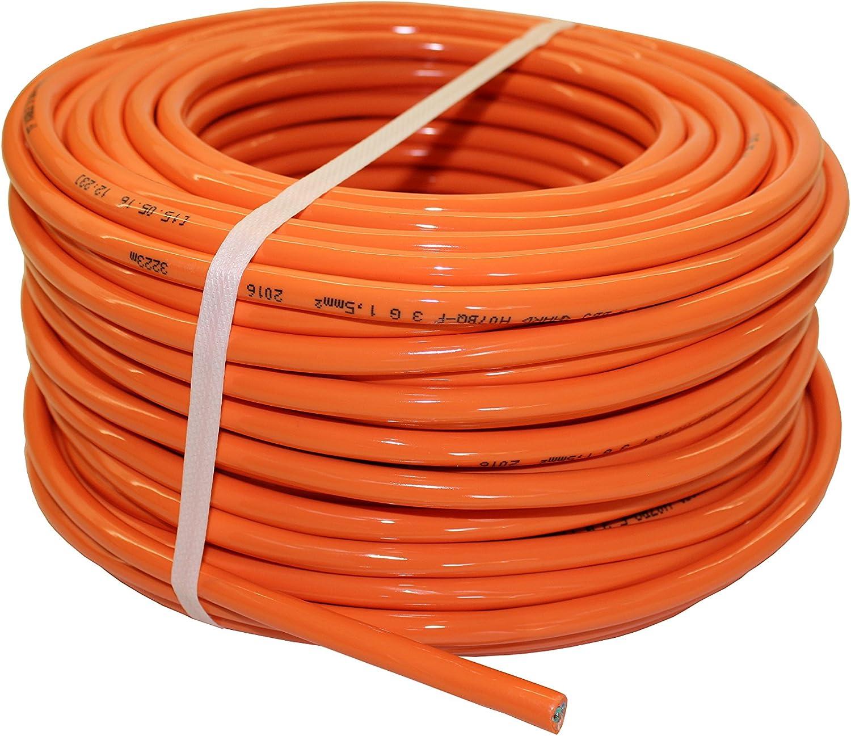 3m PUR Maschinen Anschlussleitung H07BQ-F 3G1,5mm² orange as Schwabe