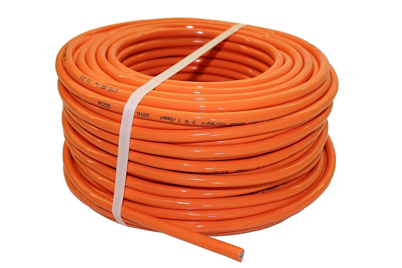 PUR-Leitung H07BQ-F 3x1,5 bis 3x2,5 Baustellenkabel, Industriekabel geeignet für den Außenbereich 5-50m (3x1,5; 5m) netbote24®