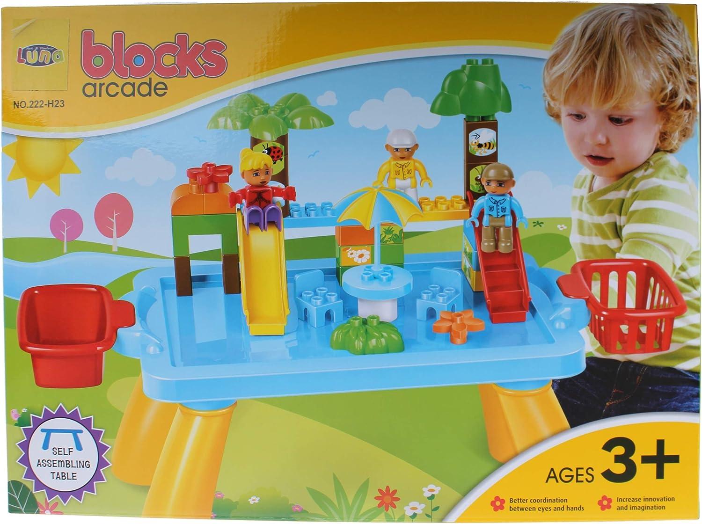 Stop & Look 000658253 - Juego de 44 Bloques de Parque y Mesa, Dimensiones: 34 x 48 x 9 cm, Multicolor: Amazon.es: Juguetes y juegos