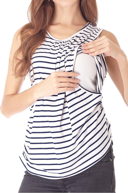 Smallshow Chaleco de maternidad para mujer