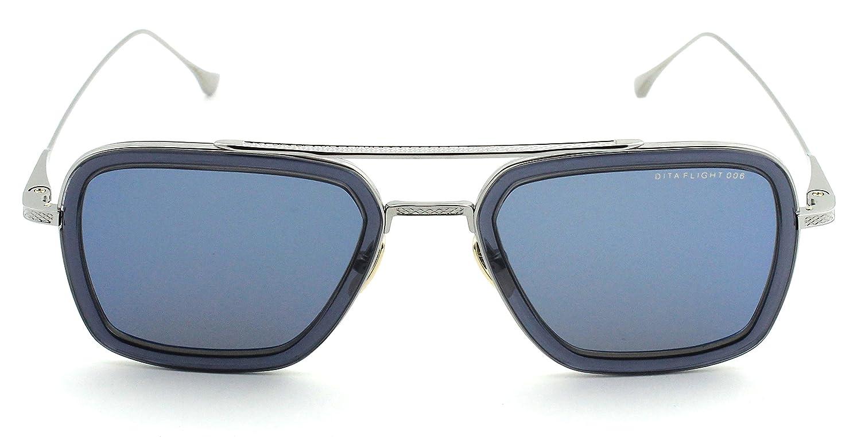 bc3e407865c Dita Flight 006 Unisex Sunglasses Dark Grey Blue Mirror Lens 7806-A   Amazon.co.uk  Clothing