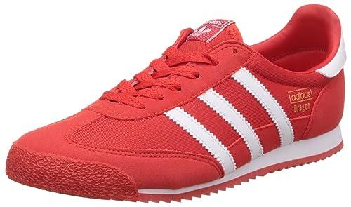 892475589347 adidas Originals Boy s Dragon Og J Redsld and Ftwwht Sneakers - 5 UK India (