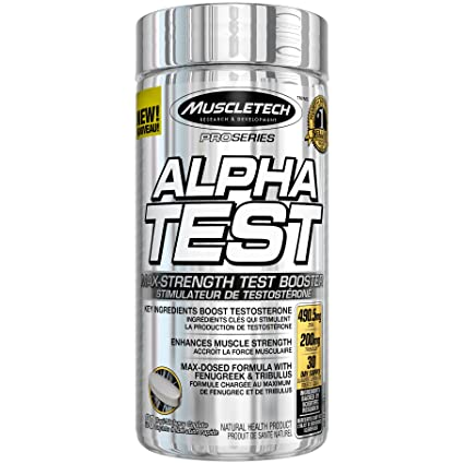 MuscleTech Pro Series Alpha Test, Testosterone Booster, 90 Count