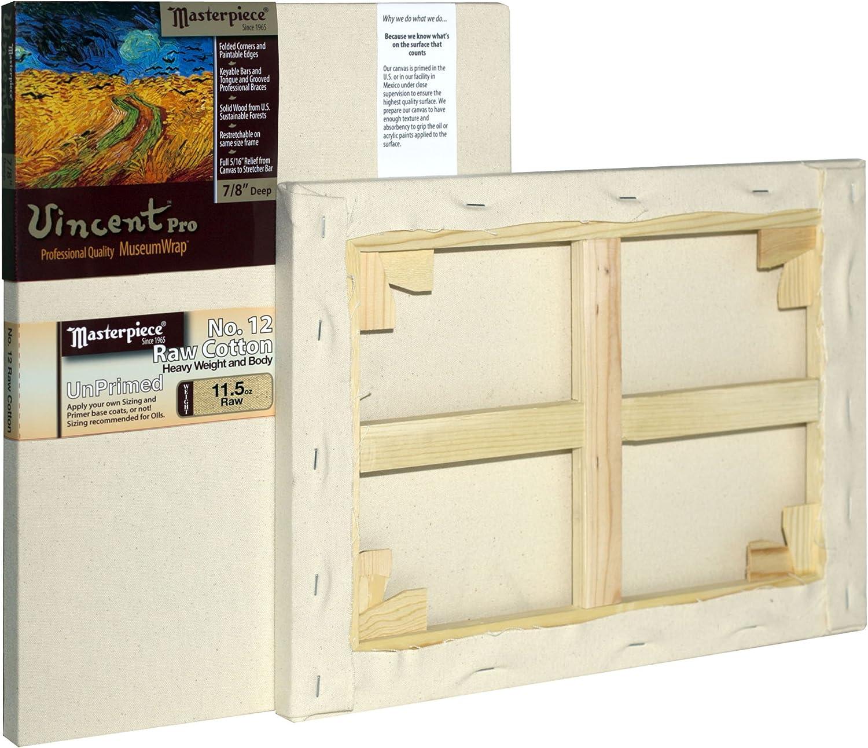 Masterpiece Vincent PRO 7//8 Deep Monterey 7oz Acrylic Primed Cotton Canvas 18 x 36 Inch