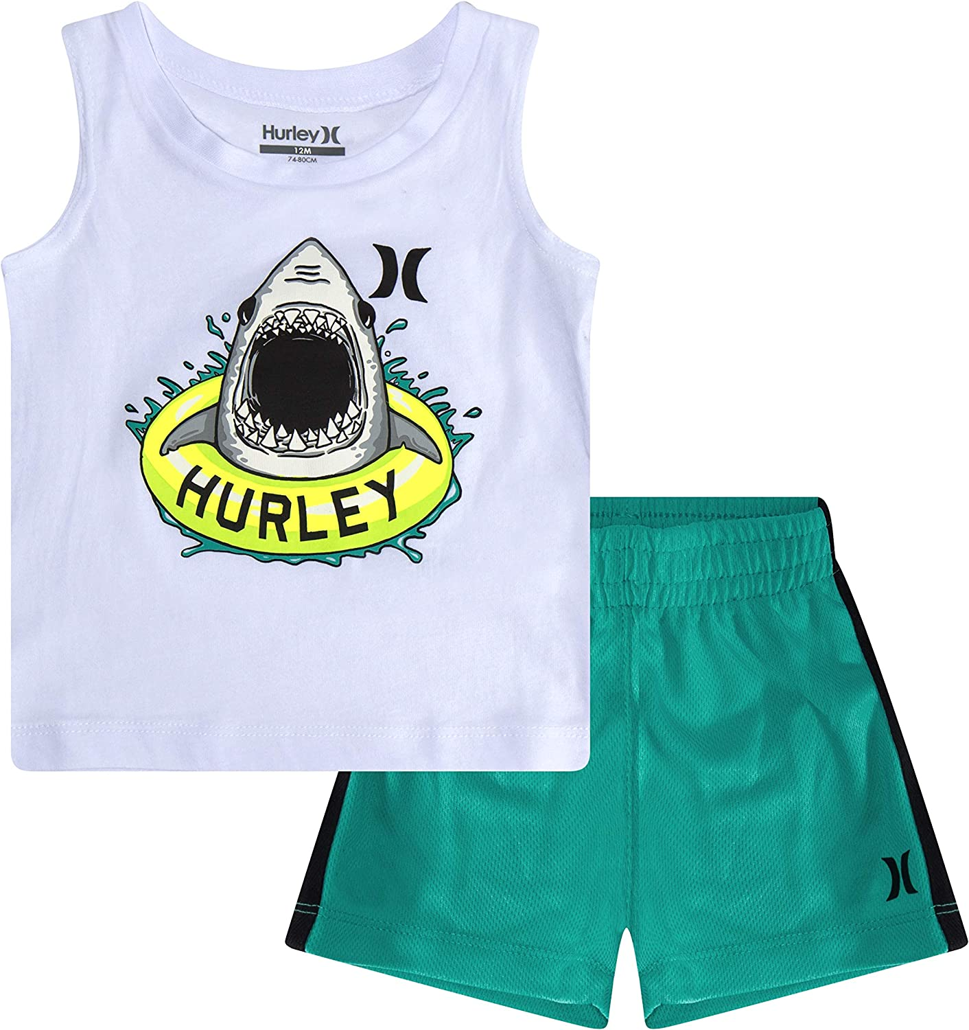 Hurley Baby Boys' Tank Top and Shorts 2-Piece Outfit Set