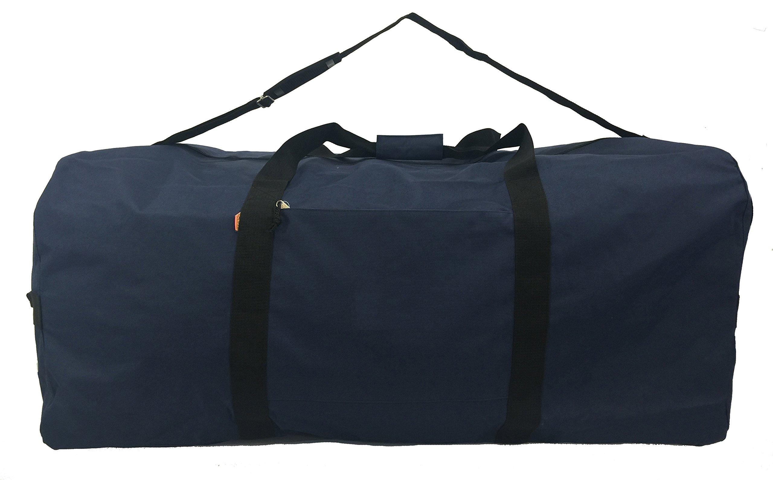 Heavy Duty Cargo Duffel Gear Bag Equipment Bags Square Sport Duffel Travel Bags 30 Inch Navy