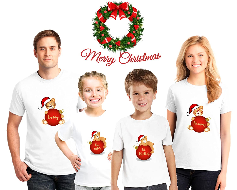 bec4d5ecf0a06 Amazon.com: Personalized Family Christmas Pajama Matching Shirts,Family  Christmas pajama tees, Kids Christmas shirts: Handmade