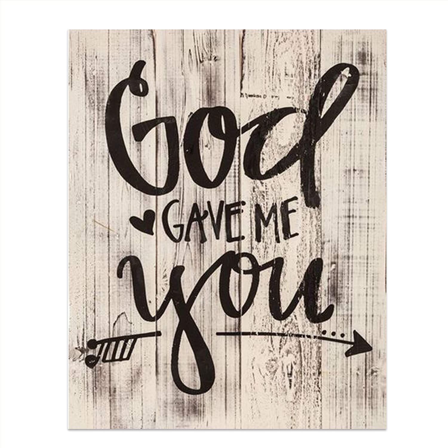 Metal Home Decor Word Wall Art God Gave Me You Country Calligraphy Decoration
