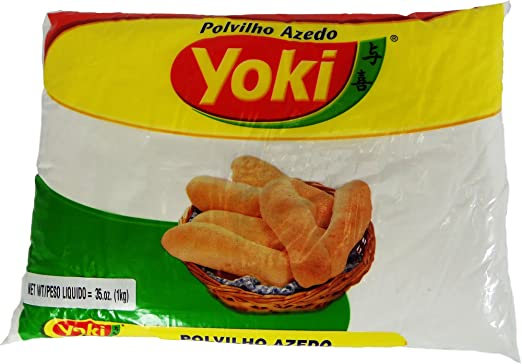 Amazon.com : Sour Starch - Polvilho Azedo - Yoki - 35.2 (oz 1Kg) - GLUTEN FREE : Bread Mixes : Grocery & Gourmet Food