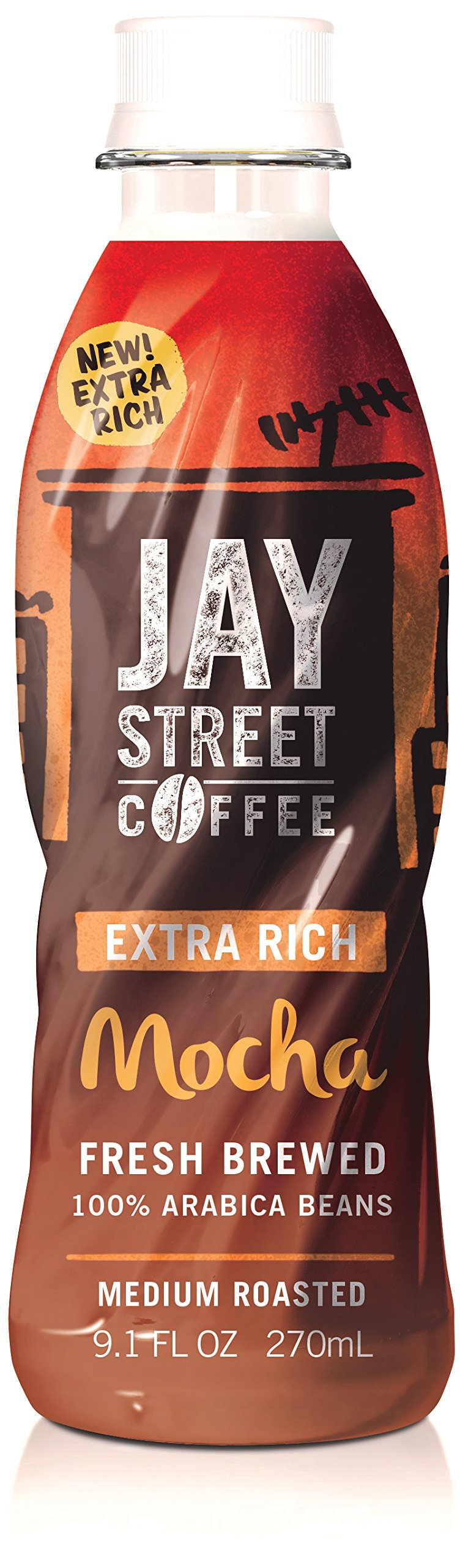 Jay Street Coffee, Extra Rich Mocha, 9.1 Ounce (Pack of 12) by Jay Street Coffee