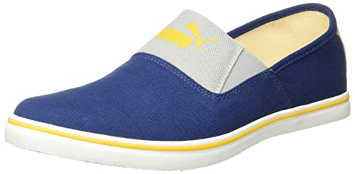 36de0be127b1e6 Puma Men s Clara IDP Blue Depths-Spectra Yellow Loafers - 6 UK India (