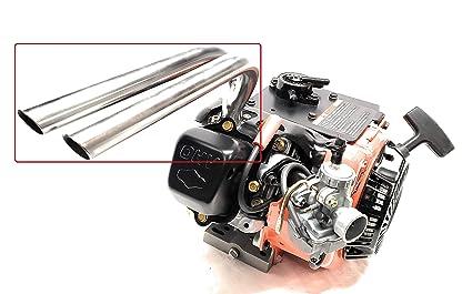 Amazon com: ARSPORT Dual Racing Header Pipe for Briggs LO206 or