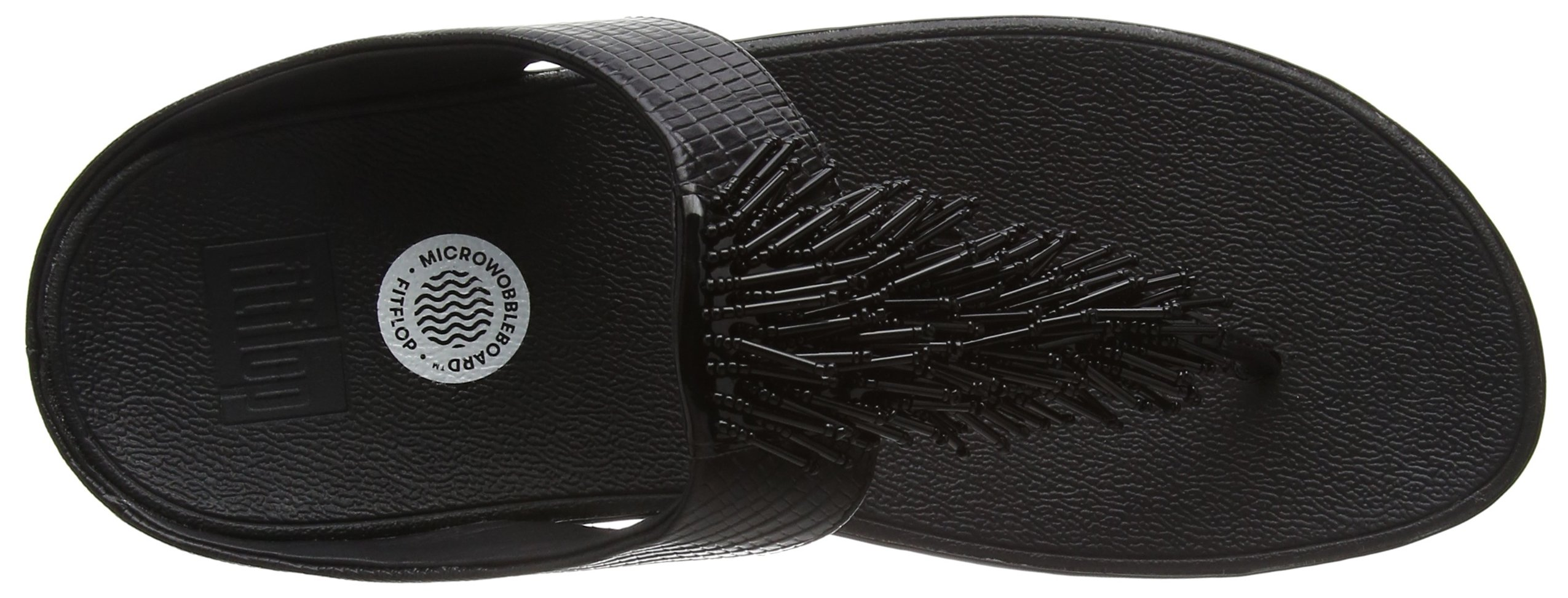 FITFLOP Women's Cha, Black, 8 M US by FITFLOP