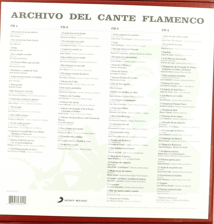 Archivo Del Cante Flamenco: Varios: Amazon.es: Música
