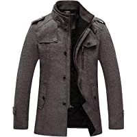 Aelle Abrigo largo de lana para hombre para invierno trenchcoat Slim-Fit Business Top Coat de PEA