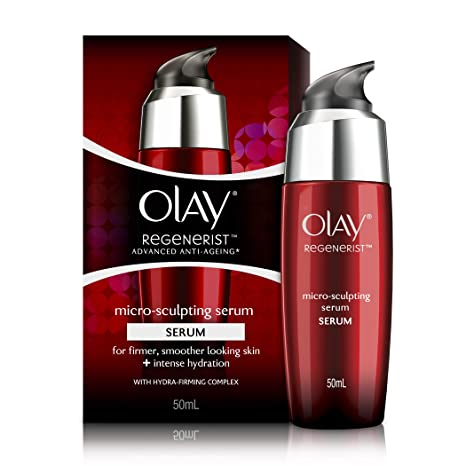 Olay Regenerist Advanced Anti-Ageing Micro Sculpting Serum + Intense Hydration with Hydra Firming Complex, Skin Cream, 50ml <span at amazon