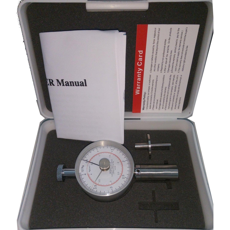 VETUS Instruments GY-2 Fruit Hardness Tester Fruit Penetrometer Sclerometer Fruit Penetrometer Fruits Sclerometer Fruit Firmness Tester Hand Fruit Durometer 0.5-4kg/cm 2 (x10 5pa) Pressure Head 3.5mm