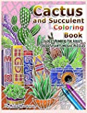 Cactus and Succulent Coloring Book Color by Numbers For Adults Dessert Plants Mosaic Puzzles: Large Cacti and Tiny…