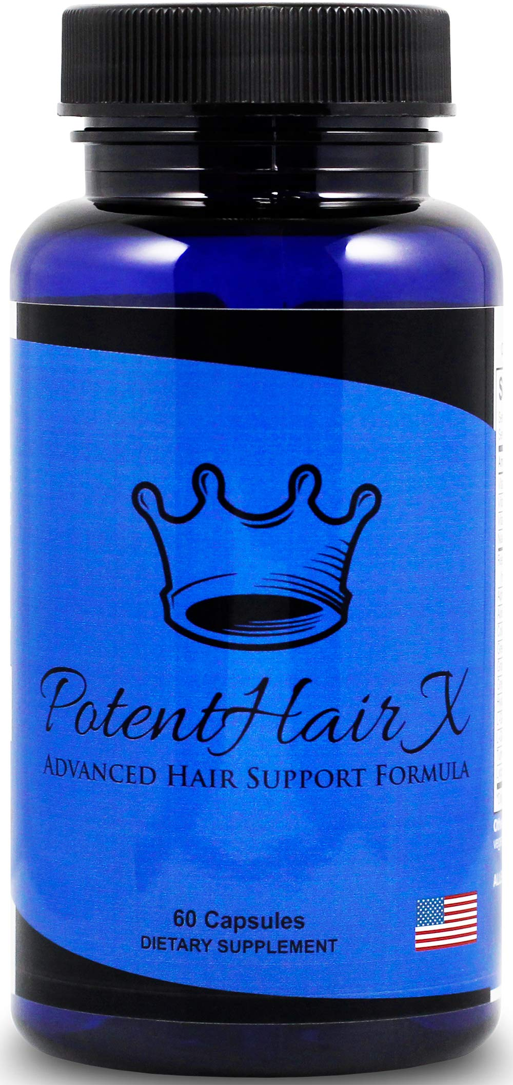 Potent Hair X: Natural DHT Blocker, Hair Growth Vitamins, Stops Hair Loss, Repairs Follicles and Promotes Hair Regrowth in Men and Women, All Hair Types, 30 Day Supply by Potent Hair X