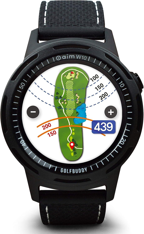 GolfBuddy W10 Reloj, Unisex Adulto, Negro, Talla única