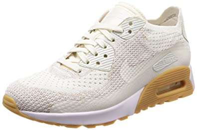 promo code bb144 56583 Nike Women's Air Max 90 Ultra 2.0 Flyknit Casual Shoe (6.5 D(M) US,  Sail/Sand/Gum Yellow/White)