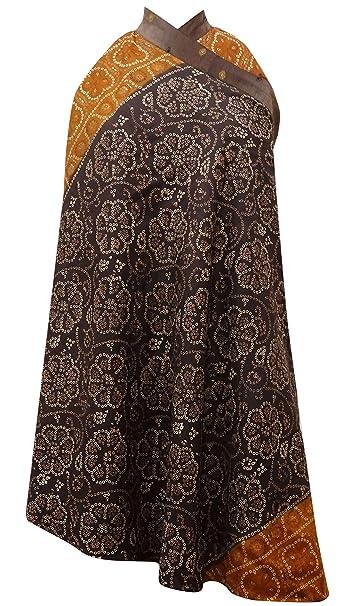 Vintage de Seda Pura Reversible Sari Impresa de Las Mujeres Vestido Largo de la Magia