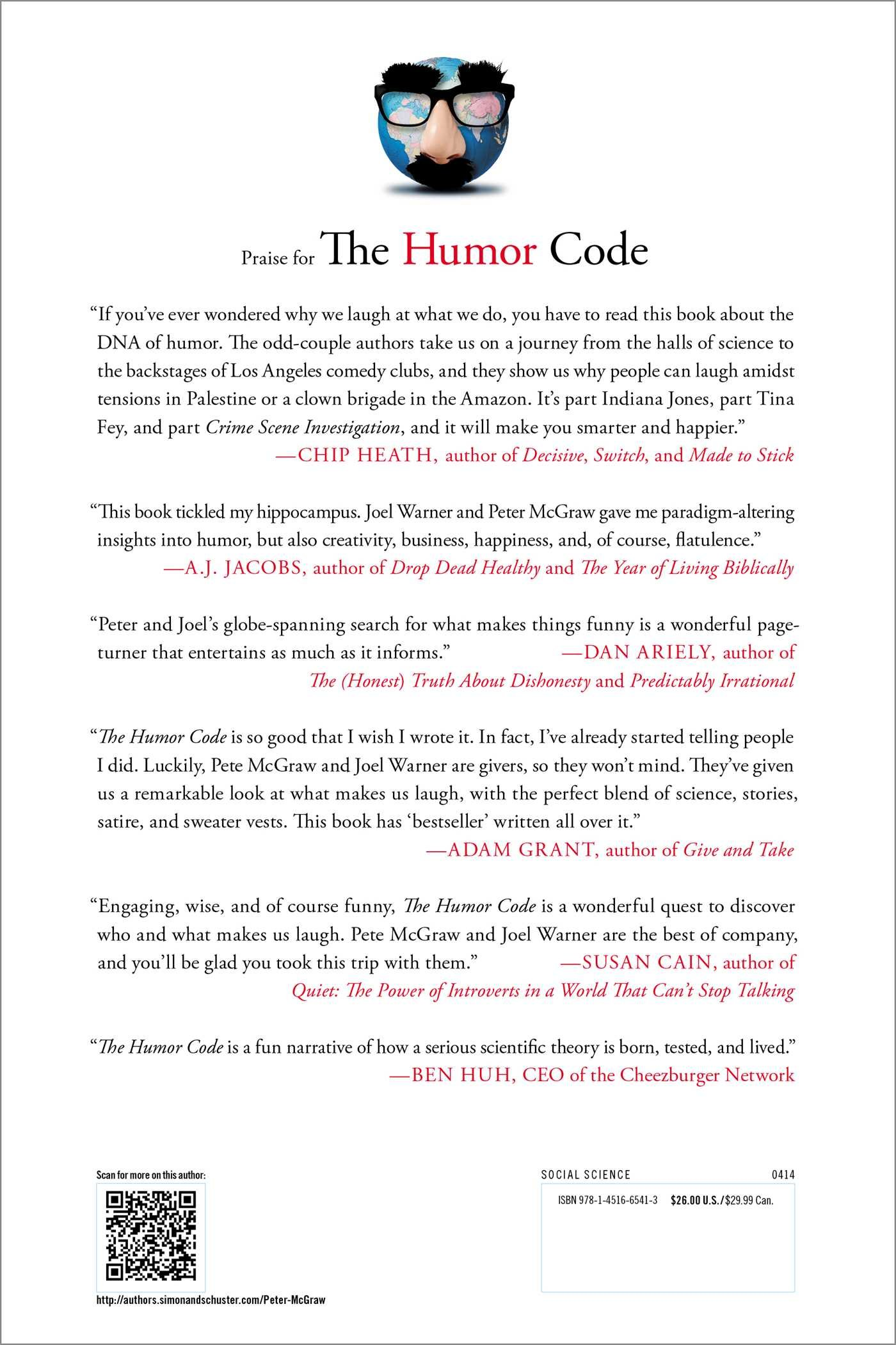 The Humor Code: A Global Search for What Makes Things Funny by Brand: Simon n Schuster
