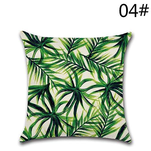 YY Club Funda para Cojines, diseño de Hojas Verdes … (12)
