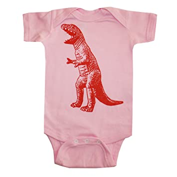 dfecb4b22 Image Unavailable. Image not available for. Color: Happy Family T Rex  Dinosaur Light Pink Baby Girl ...