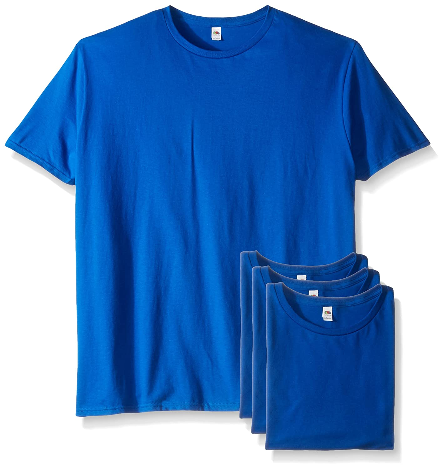 Fruit of the Loom Mens Athletic SF45R4P Fruit of the Loom Mens Crew T-Shirt 4 Pack