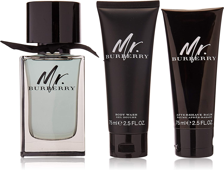 Burberry Mr Burberry Men 3 Pack 1 X 100ml Spray 75ml Asb 75ml S Gel 250ml Amazon Co Uk Beauty