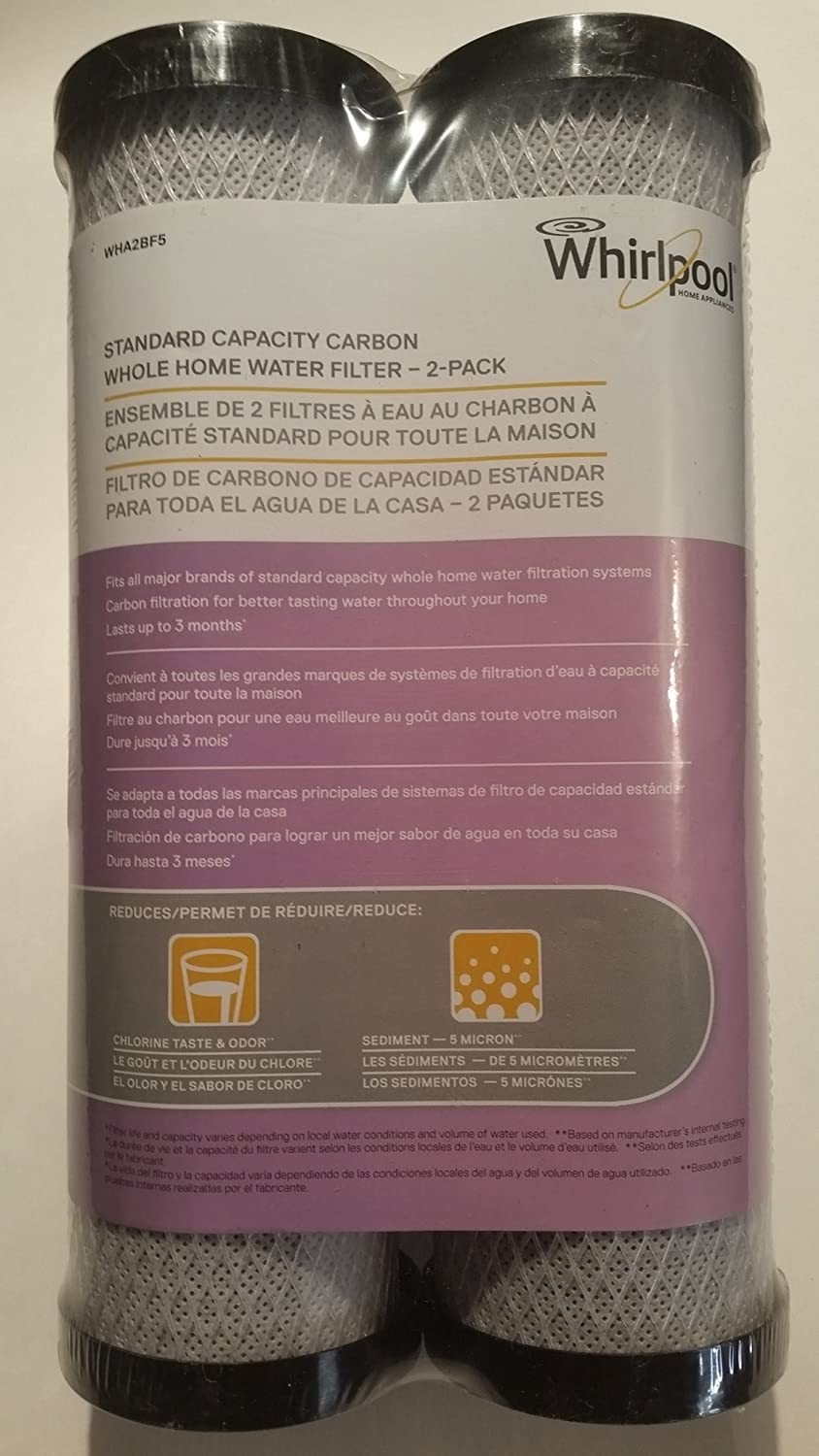 Whirlpool Refrigerator Water Filters Lowes Amazoncom Whirlpool Wha2bf5 Standard Capacity Carbon Whole Home
