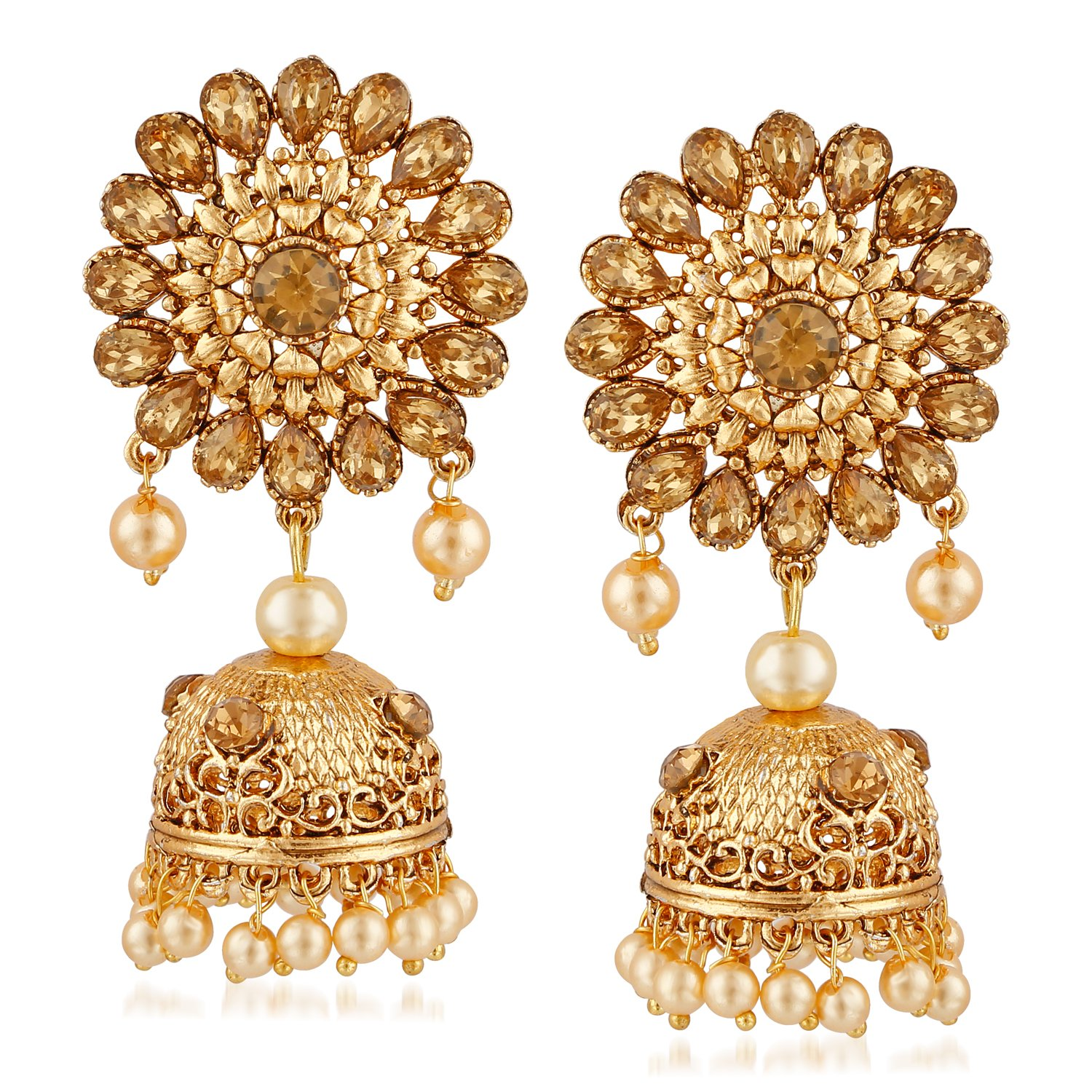 Buy MEENAZ Temple Jewellery Sets Traditional Gold Pearl