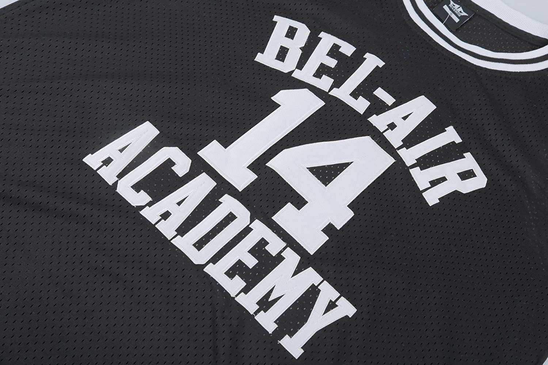 XL, Black MM MASMIG Will Smith 14 The Fresh Prince of Bel Air Academy Basketball Jersey S-XXL Black