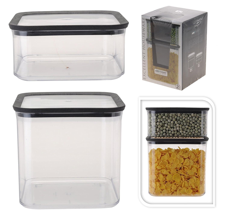 Frischhaltedosen Aufbewahrungsdosen Vorratsdosen Set 4 Tlg. (2 Dosen 2  Deckel)Kunststoff Von Excellent Houseware: Amazon.de: Küche U0026 Haushalt
