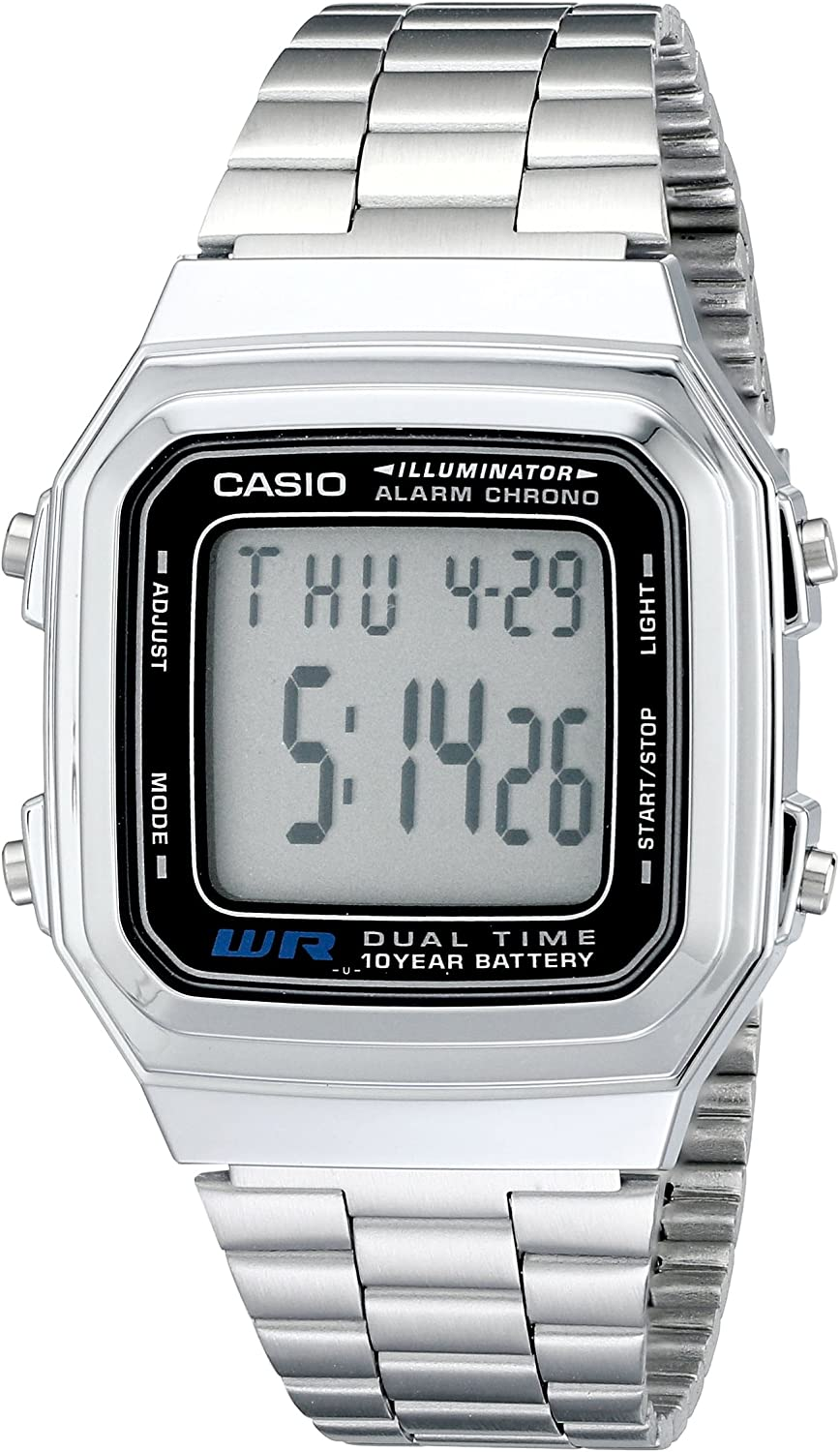 Casio Men s A178WA-1A Illuminator Stainless Steel Watch