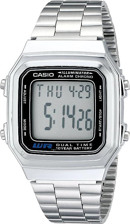 Casio A178WA-1A Illuminator Reloj de Acero Inoxidable para Hombre