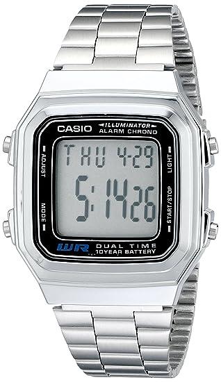 e94979135cd0 Casio Men s A178WA-1A Illuminator Stainless Steel Watch  Casio   Amazon.com.mx  Relojes