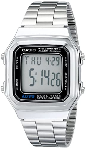 Casio Mens A178WA-1A Illuminator Stainless Steel Watch