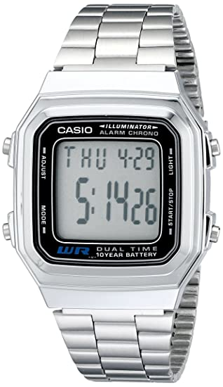 1a8855528a3 Amazon.com  Casio Men s A178WA-1A Illuminator Stainless Steel Watch ...