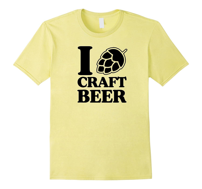 I Love Craft Beer T-Shirt for Men Women – Hops Heart